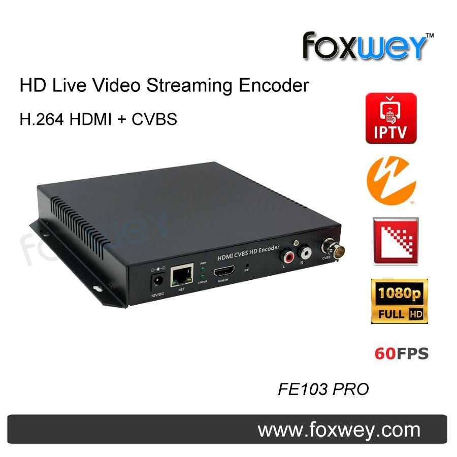 HD live video streaming encoder | CVBS|AV|BNC|composite encoder audio input H.264 PAL NTSC for live church stream FOXWEY