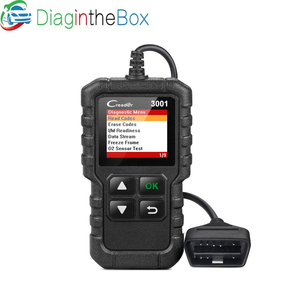 LAUNCH X431 Creader 3001 OBD2 Code Reader Support Full OBD 2 EOBD function CR3001 Auto Scanner PK AD310 NL100 ELM327