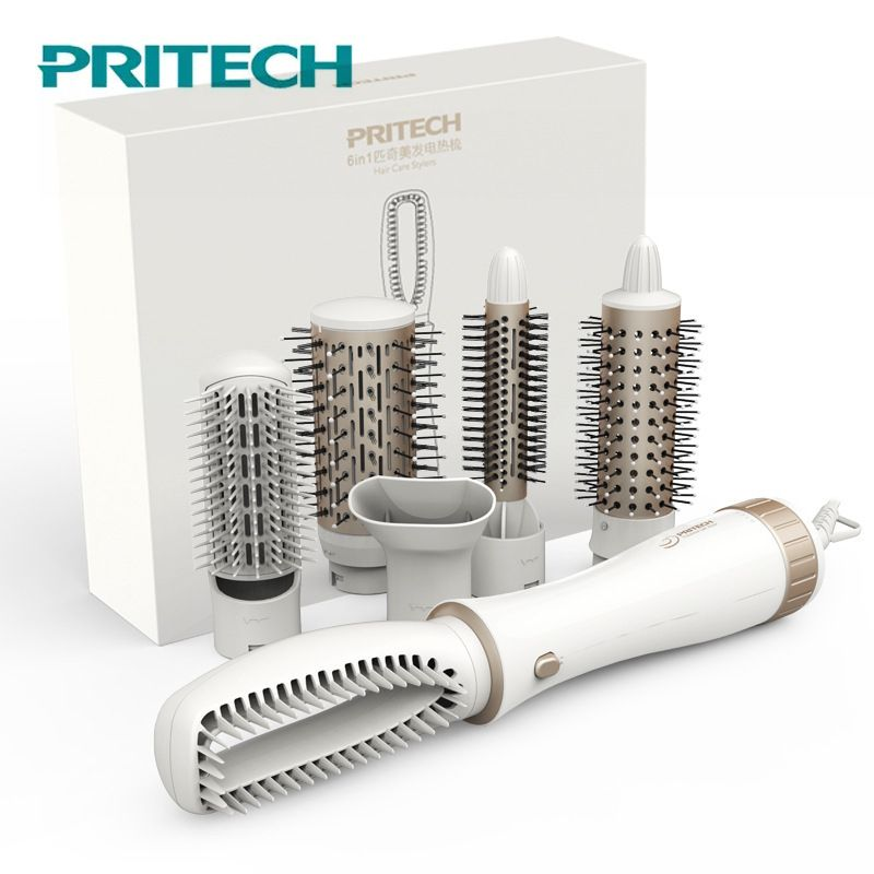 Pritech Multifunctional Hair Dryer Brush Styling Tools Electric Hair Curling Iron Automatic New Hair Straightener Curler Comb