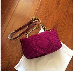 Haute qualité Velours Grande marque célèbre design De Luxe sacs Femmes Épaule Diagonale sacs Chaîne sac à main Bandoulière sac réel photos