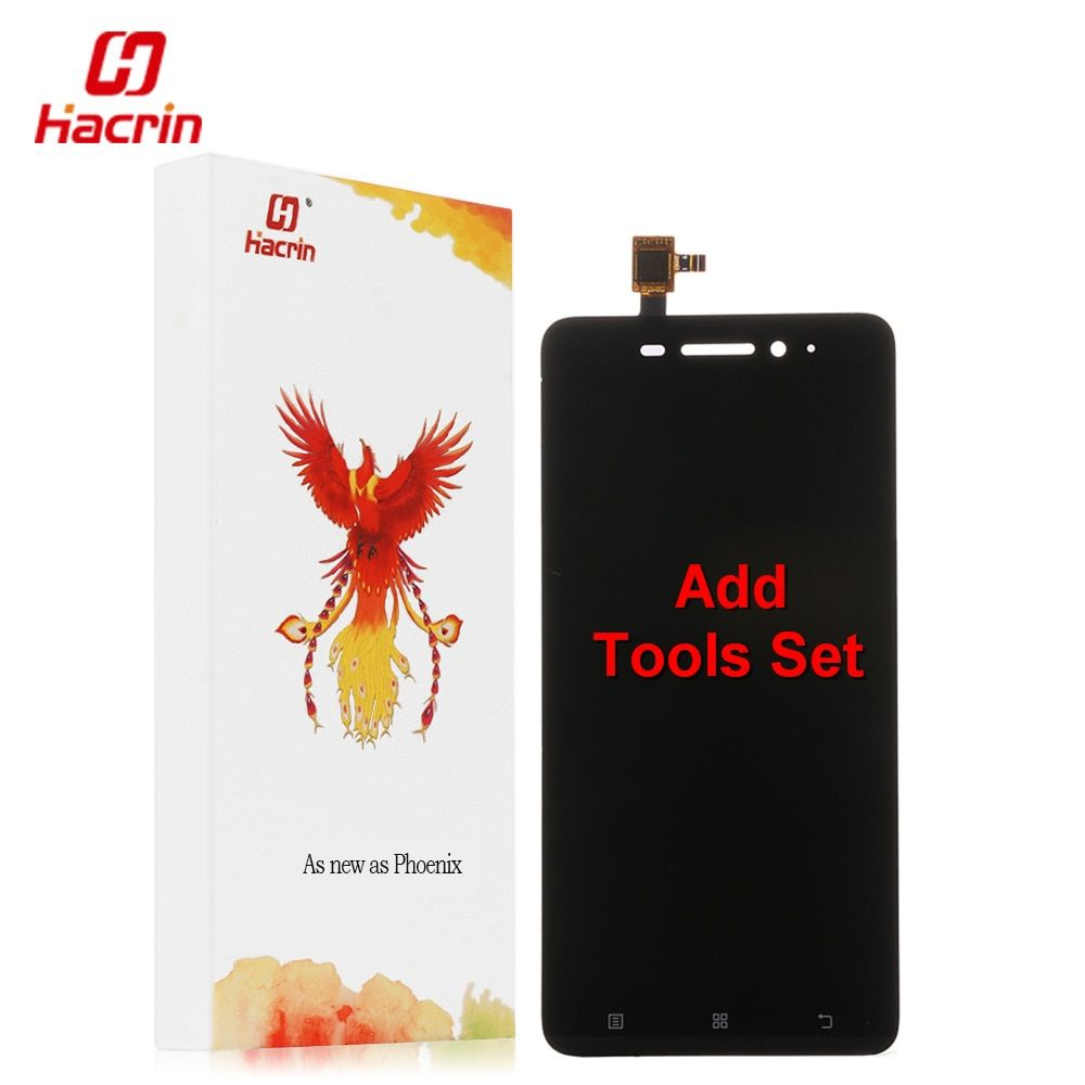 hacrin Lenovo S60 LCD Display Touch Screen Sensor + Tools Digitizer Assembly Replacement Accessory For S60W Phone - Black