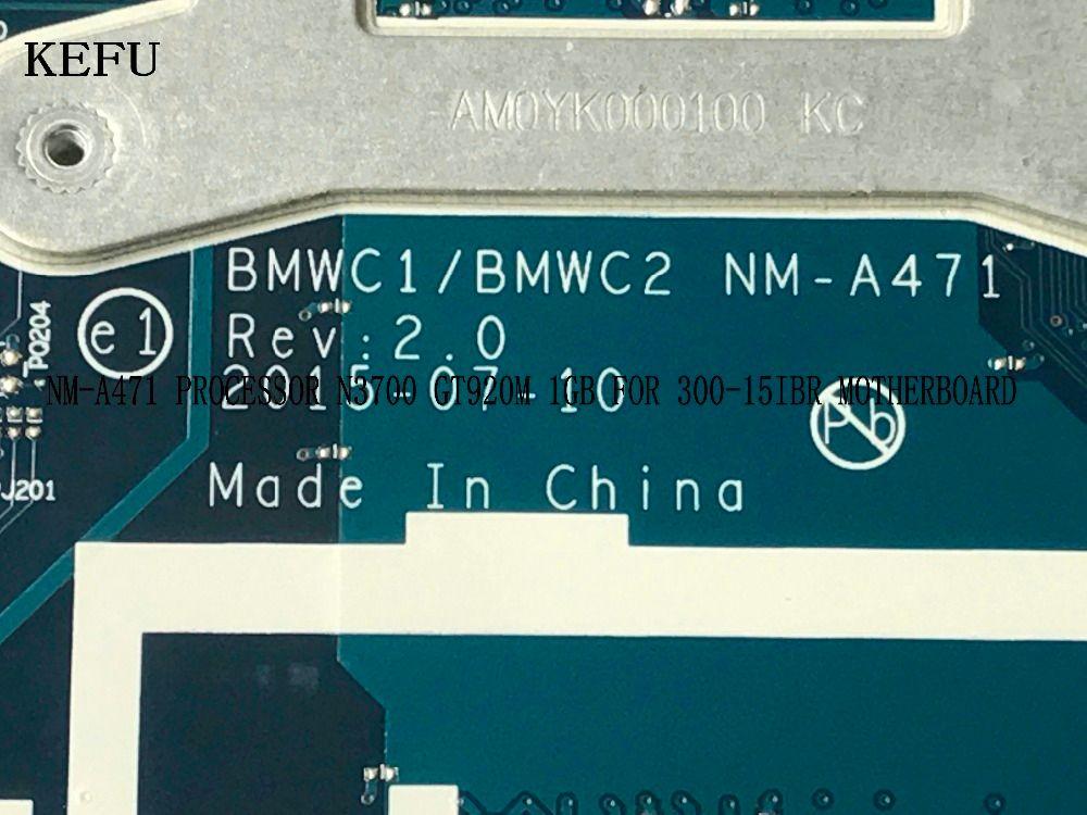 KEFU STOCK 100% NEW BMWC1 /BMWC2 NM-A471 REV : 2.0 laptop Motherboard For LENOVO 300-15IBR ON BOARD PROCESSOR N3700 GT920M 1GB