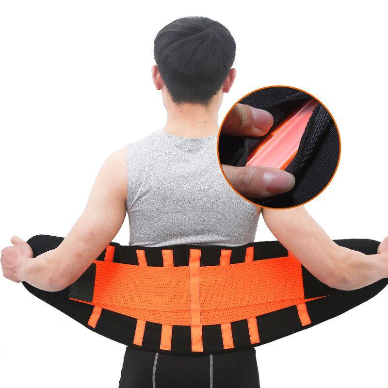 Men And Women Waist Trimmer Belt Lumbar Back Support Gym Fitness Weightlifting Belt Adjustable Abdominal Elastic Waist Trainer
