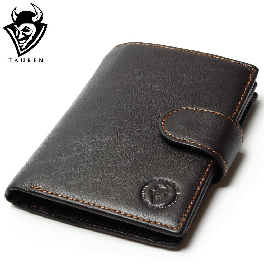 Retro Practical Oil Waxing Leather Travel Wallet Cowhide Genuine Thickening Vintage Men Men's Purse Passport Wallets