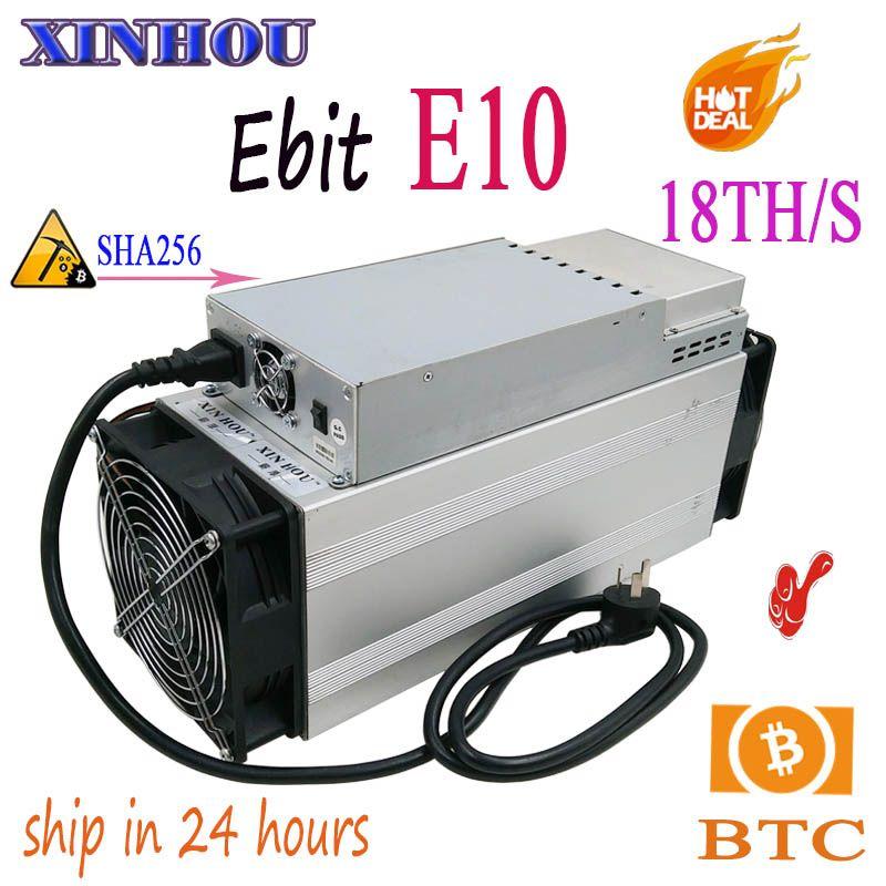 Verwendet BTC BCH Miner Ebit E10 18 T SHA256 Asic Mit NETZTEIL bitcoin bergbau Besser Als antminer s9 S11 T15 s15 B7 Z11 M3 M10 T1 T2T T3
