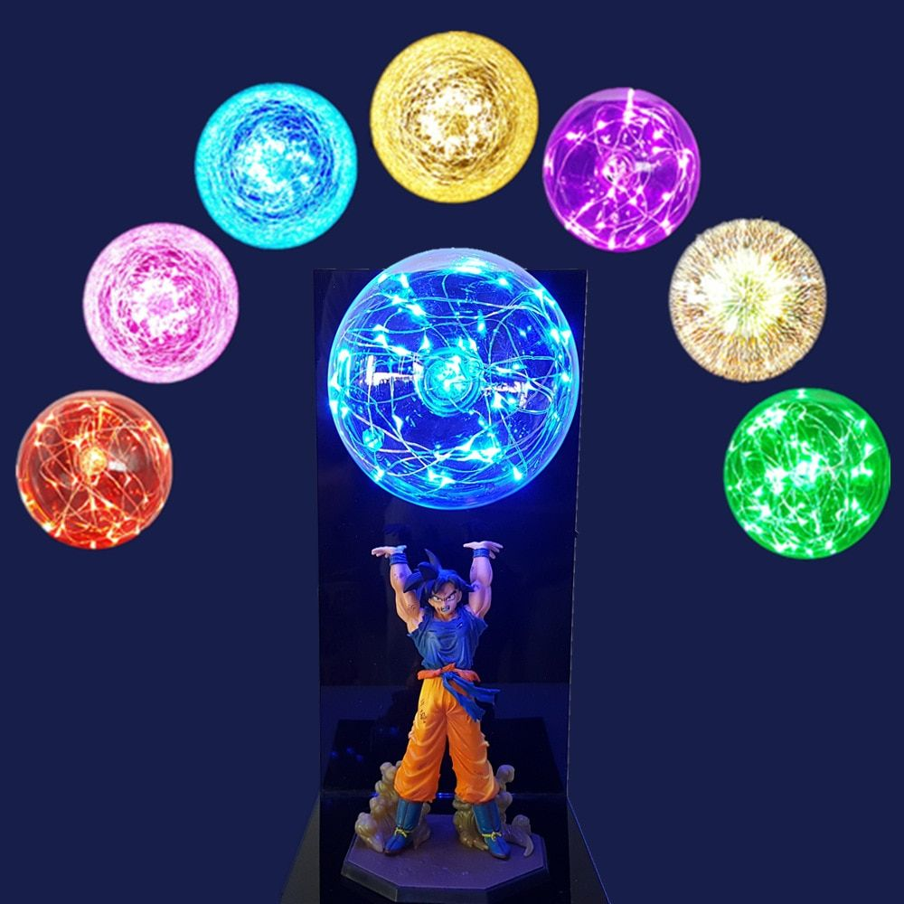 Dragon Ball Z Goku Spirit Bomb Led Light Lamp Dragon Ball Super Son Goku Night Lights Lampara Led Dragon Ball