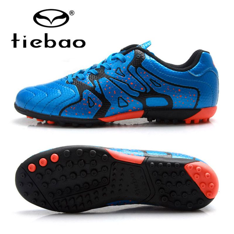 TIEBAO Professional Soccer Shoes 2018 Teenagers Sports Football Boots TF Turf Soles Sneakers Chuteira Futebol Soccer Cleats