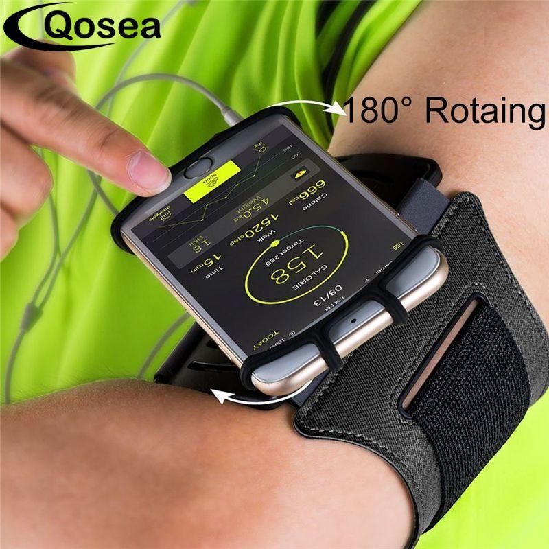 Qosea Courir Sport Brassards D'entraînement Universel Brassard Arm Band Cas Directe tactile Pour iPhone 7 Plus X Samsung S9 Huawei P20 Pro