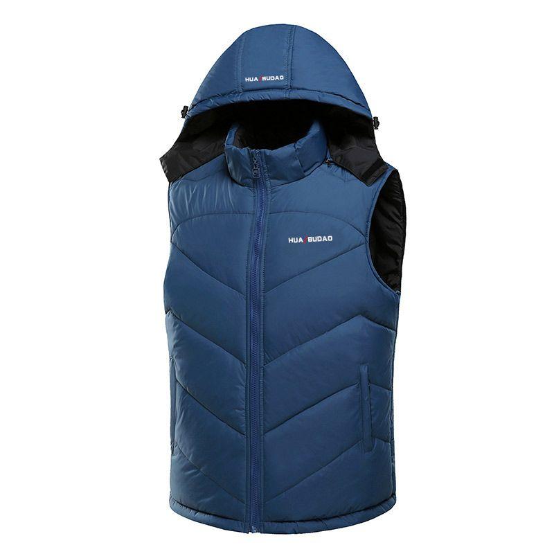 Лидер продаж 2016 года зимний жилет с капюшоном толстые теплые Для мужчин куртка без рукавов жилет улица толстовка Стиль Мужские 4XL пальто