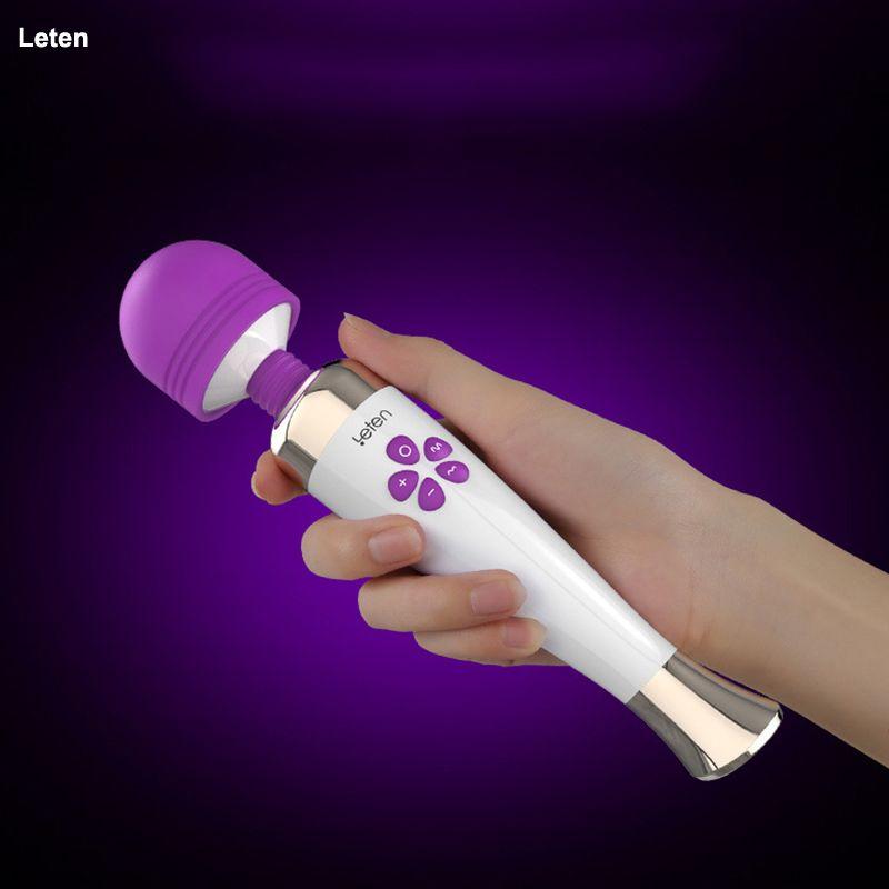 Leten Vibrators for women G spot Rabbit vibrator Sex toys for woman 10 Mode 7 Speeds Magic wand clitoris stimulator Erotic toys