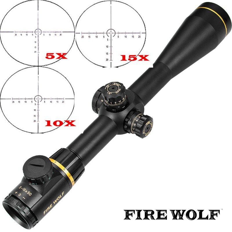 FEUER WOLF 5-15X50SF Goldene Optik Zielfernrohr Seite Parallaxe Tactical Jagd Scopes Zielfernrohr Für Airsoft Sniper Gewehr