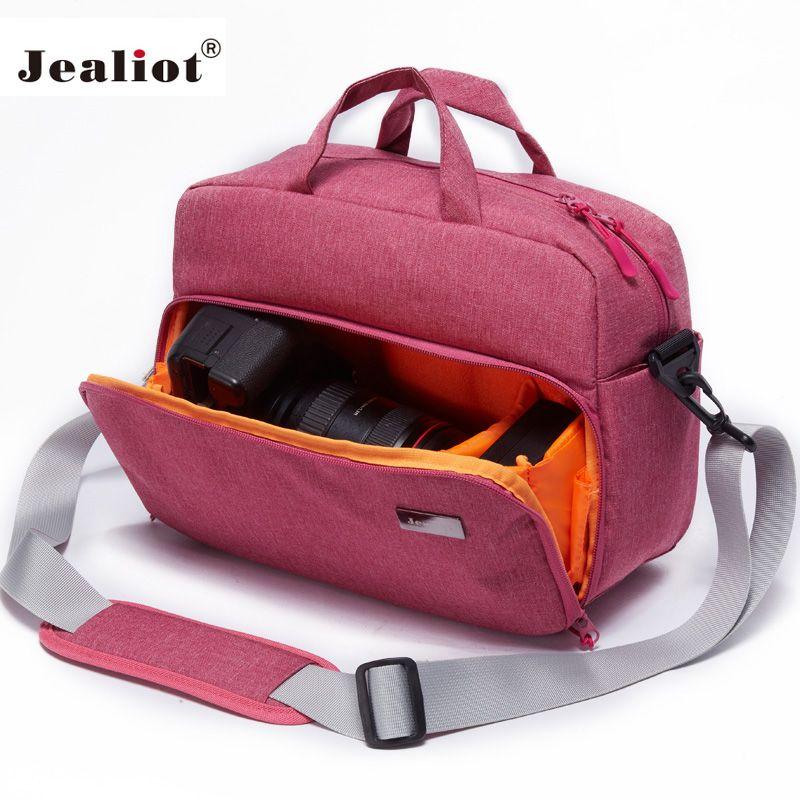 Jealiot DSLR REFLEX sac pour la caméra Sac d'épaule Voyage foto sac Photo lentille cas appareil photo numérique Femmes hommes étanche pour Canon