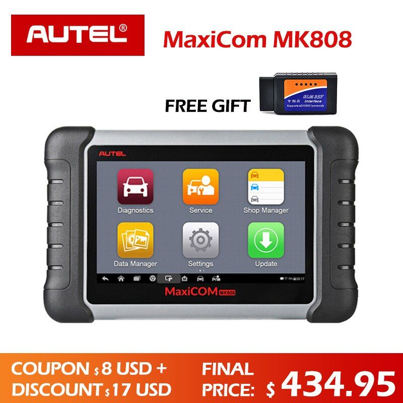 Autel MaxiCOM MK808 Diagnose werkzeug MX808 Autel MK808 Automotive Scanner Schlüssel Programmierer IMMO Code Reader PAD diagnose DS808