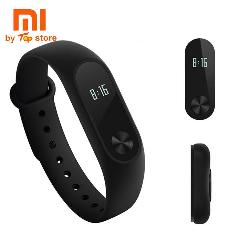 En stock 100% D'origine Xiaomi Mi Smart Bracelet Xiomi de Remise En Forme Bracelet Miband 2 Mi bande 2 pour Xiaomi Mi6 sport tracker