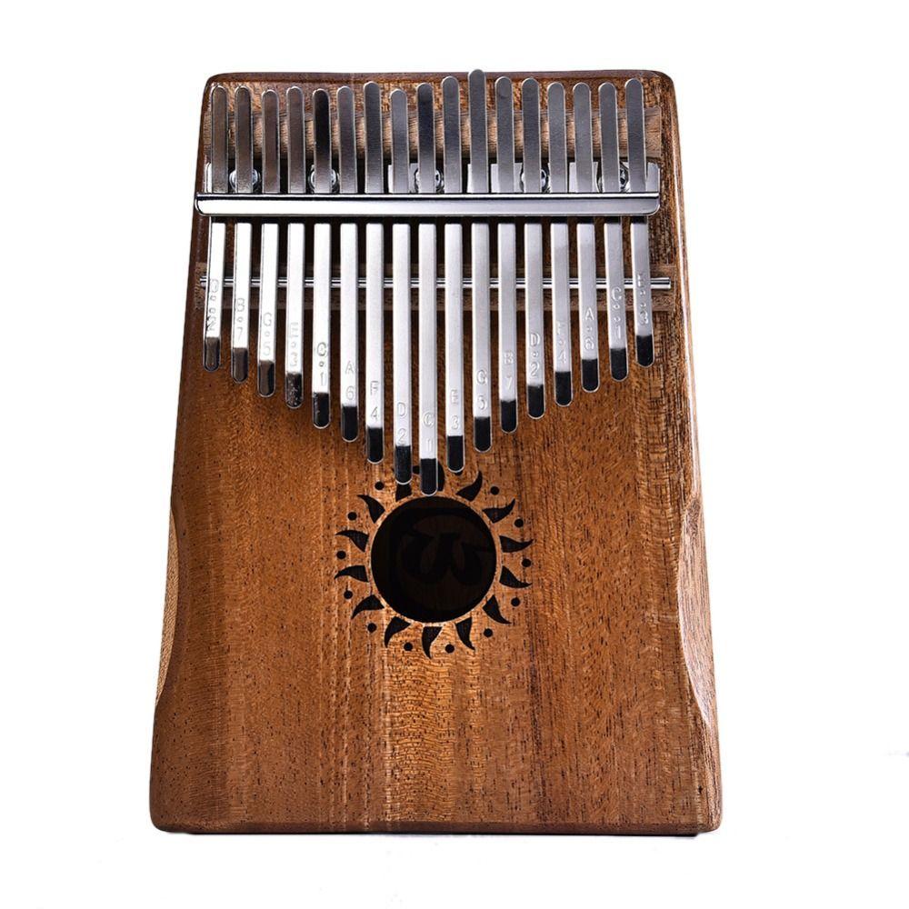 17 Key Kalimba Mahogany Thumb Piano Mbira Natural Mini Keyboard Instrument (Bag + Tuner Hammer + Stickers + manual + Song Book)