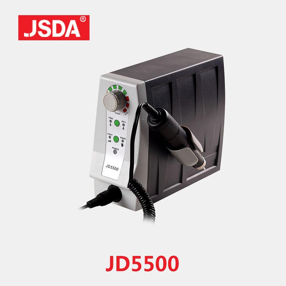 Real JSDA JD5500 85 W électrique avancé ongles perceuses professionnels pédicure outil manucure Machine ongles Art équipement 35000 tr/min