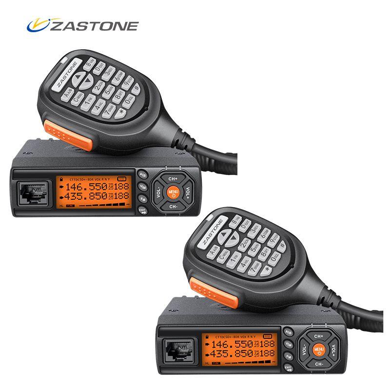 2pcs Zastone Z218 10KM Radio Car Walkie Talkie 25W Dual Band VHF/UHF 136-174mhz 400-470mhz Car Radio Communicator HF Transceiver