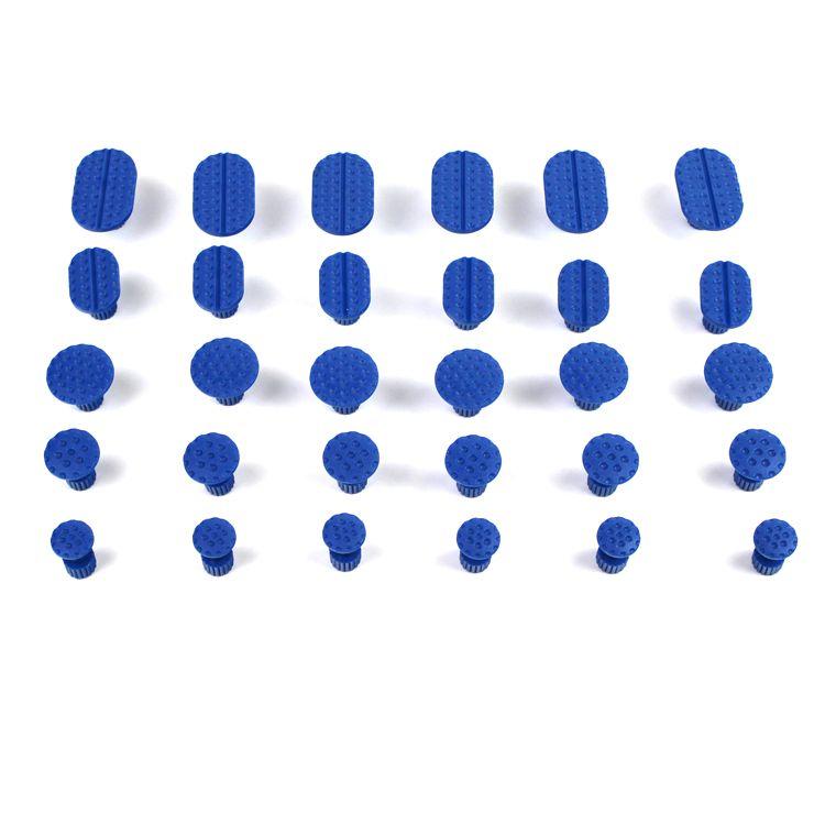 Professionnel 30 pcs PDR Outils Kit Haute Qualité Voiture Débosselage sans peinture Outils Ensemble Or Dent Puller Colle Onglets