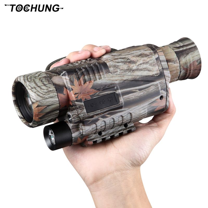 TOCHUNG 5 x 40 Infrared Digital Night Vision Telescope High Magnification with Video Output Function Hunting Monocular 200m View
