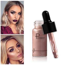 Pudaier Liquide Surligneur 12 couleurs Maquillage Crème Anti-cernes Miroitement Briller Lèvres Visage Bronzer Surligneur Lueur Kit