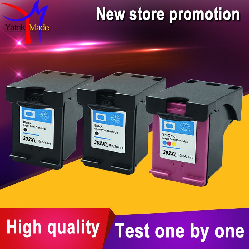 Promotion 2BK+1Tri-colors for hp 302 Ink Cartridge for hp 302 XL Officejet 3830 3834 4650 4655 Printer
