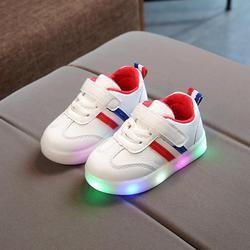 Nouveau Printemps Bébé Filles Garçons Led Lumière Casual Chaussures Infantile Inférieur Mou Bande Sport Chaussures Enfants Enfants Espadrille Extérieure