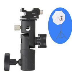 New Swivel Flash Hot Shoe Umbrella Holder Mount Adapter for Studio Light Type E Stand Bracket Photo Studio Accessories