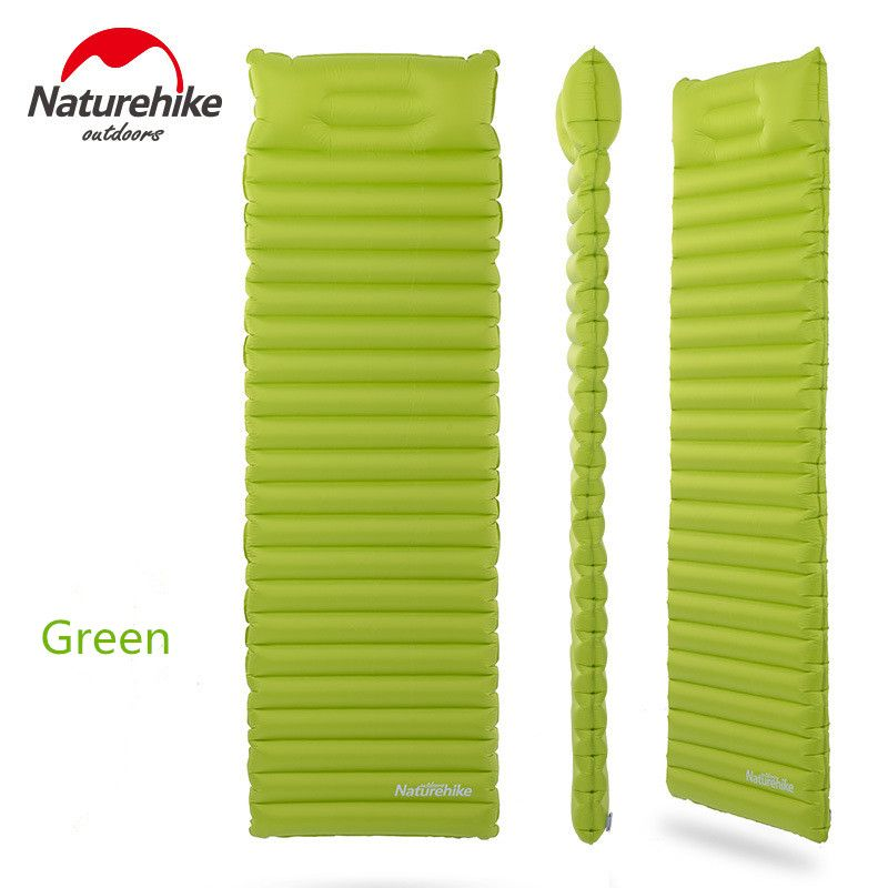 Naturehike innovative sleeping pad fast filling air bag super light inflatable mattress with pillow life rescue 550g cusion