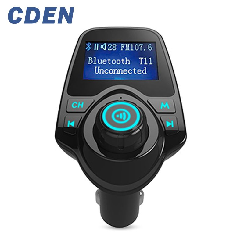 Voiture Mp3 Audio Lecteur Sans Fil Bluetooth Transmetteur FM Modulator Mains Libres Voiture Kit LCD Double USB Chargeur pour iPhone Samsung T11
