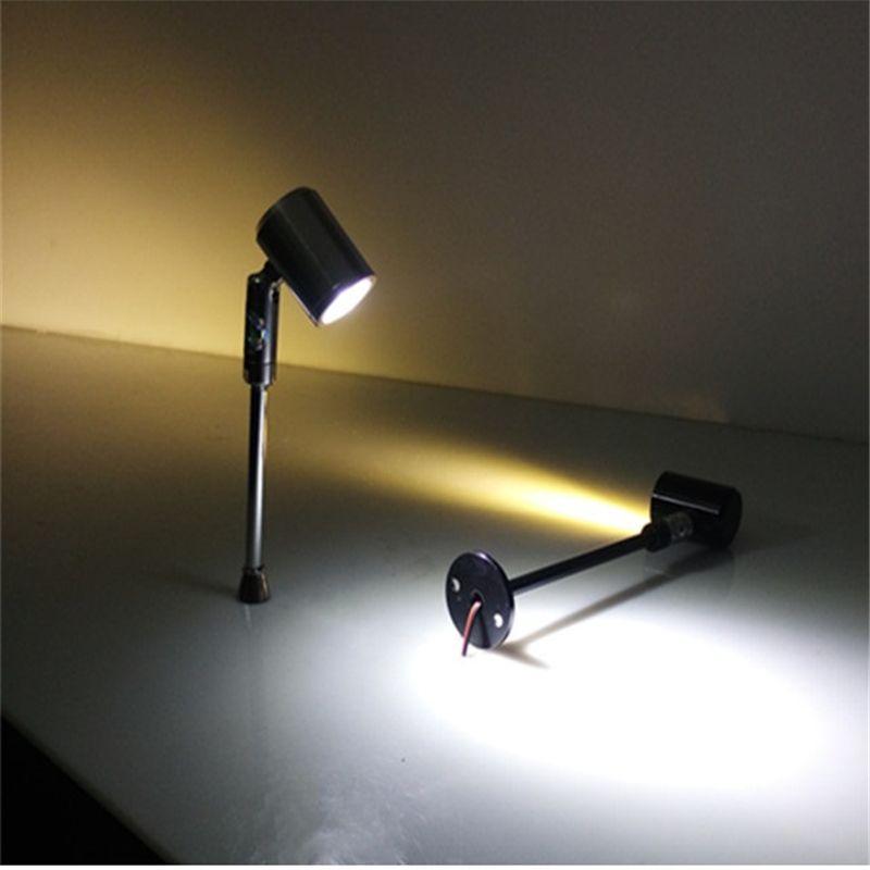 180 degrés rotable1 tête 3 w led cabinet lampe spot, 85-265Vac led contre la lumière, accent éclairage pour vitrine, led lampe d'exposition