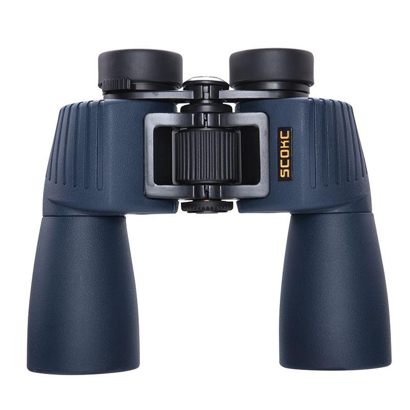 SCOKC 12x50 Waterproof Binoculars Professional Telescope Bak4 Prism Optics Camping Hunting Scopes High Power Binoculars