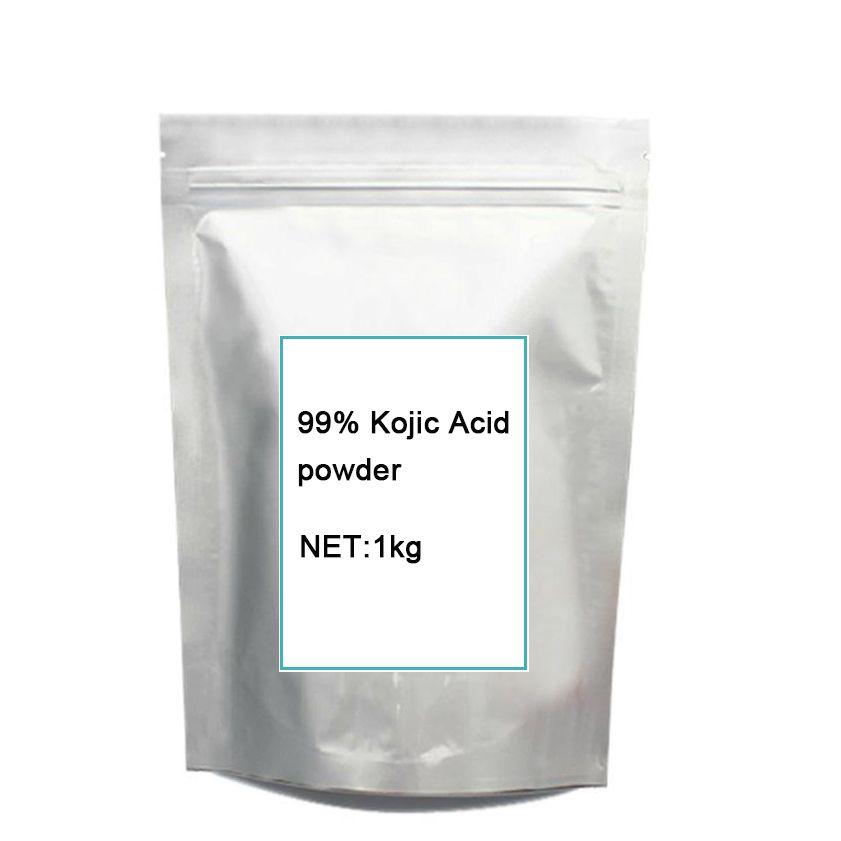 1KG cosmetic grade pure 99% Kojic Acid po-wder skin whitening skin lightening Free shipping