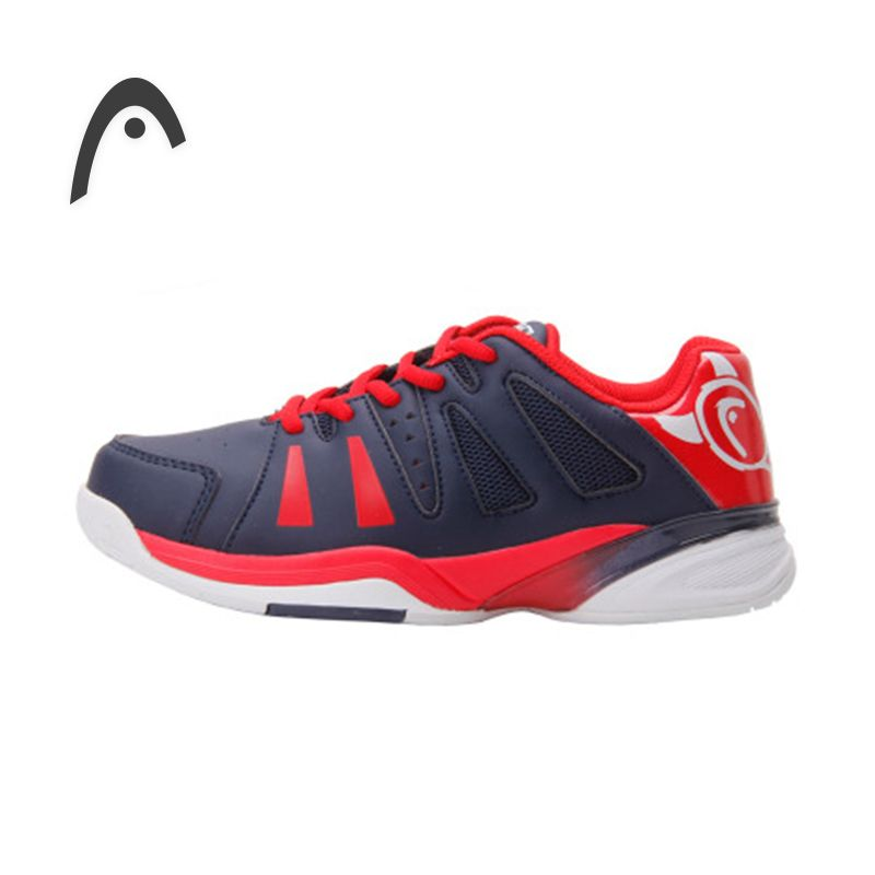 HEAD Kid's Tennis Shoes Original Red Breathable PU Damping Professional Tennis Sneakers For Boy For Girl Zapatillas Para Tenis