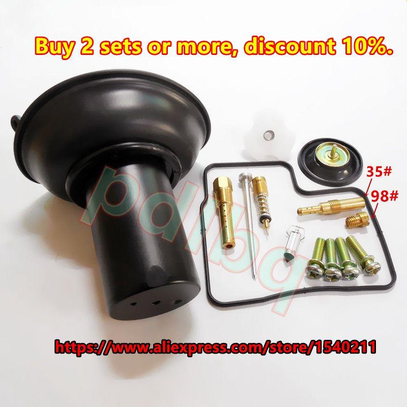 Configuration 29.9mm vide diaphragme piston VLX 400 Steed 400 V-type cylindre Moto Keihin NV400CC kit de réparation de carburateur kit