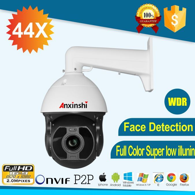 Smart IP PTZ Camera 44X optical zoom starlight SonyIMX290 face detection Crossing line detection H.265 PTZ IP onvif camera