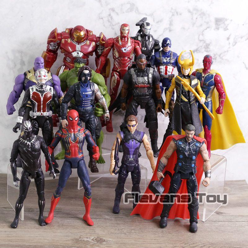 Marvel Avengers 3 infinity guerre film Anime Super héros Captain America Ironman Spiderman hulk thor Super-héros figurine jouet