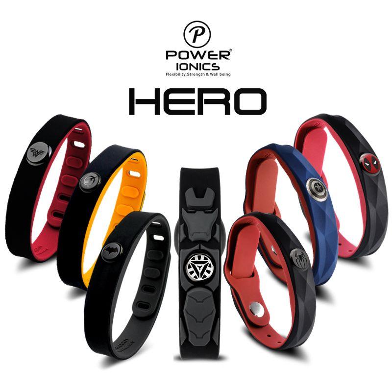 Héros puissance Ionics 3000 ions idée bande sport titane Bracelet Bracelet équilibre corps humain