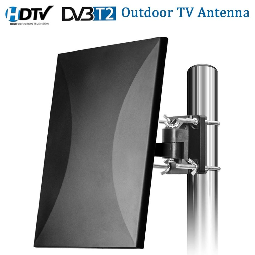 Satxtrem Outdoor TV Antenna 160 Miles Range HDTV Digital Indoor TV Antenna Cable For DVB-T2 32.8ft Coax Amplifier Signal Booster
