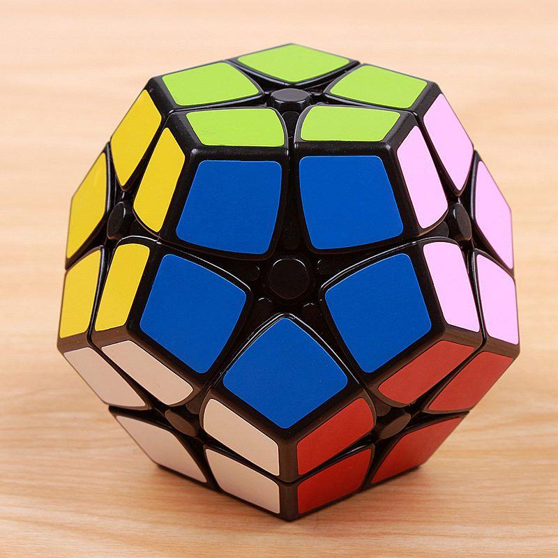 Mini megaminxedes 2x2x2 puzzle magic speed cube autocollant professionnel éducatifs 12-côté jouets pour enfants