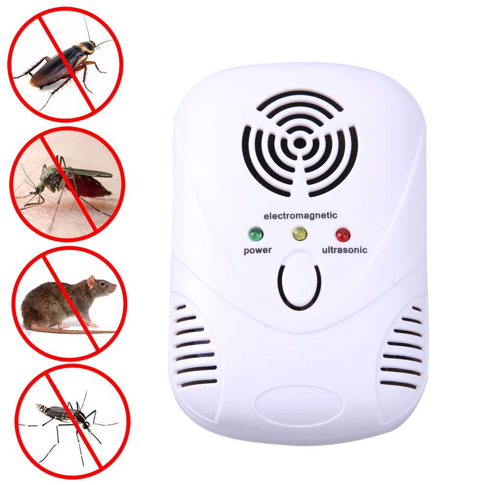 110-250 В/6 Вт Электронный ультразвуковой Мышь убийца Мышь таракан ловушка отпугиватель комаров насекомых крыс Пауки Управление US/EU