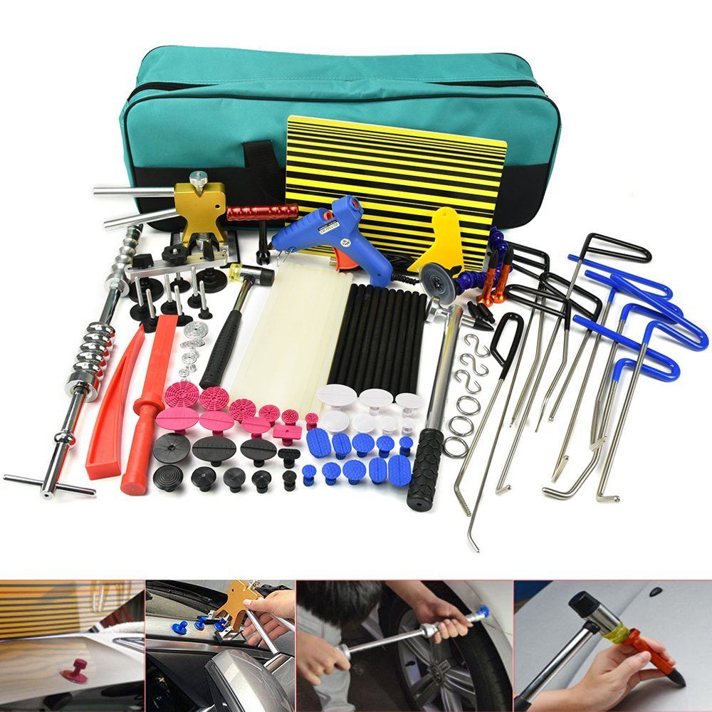 FUURIX PDR tools Rods Dent Puller Hail Damage Repair Car Dent Removal Paintless Dent Repair Tools Kit