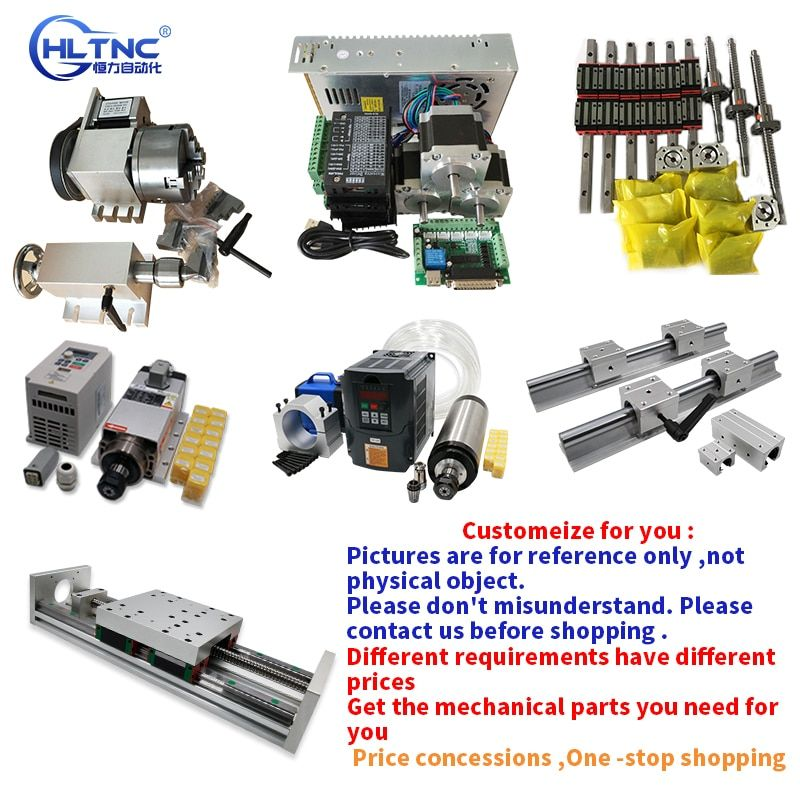 Personnalisation CNC Module 1605 vis à billes HGR20 guide linéaire convertisseur de broche de crémaillère pour accessoires de machine de gravure