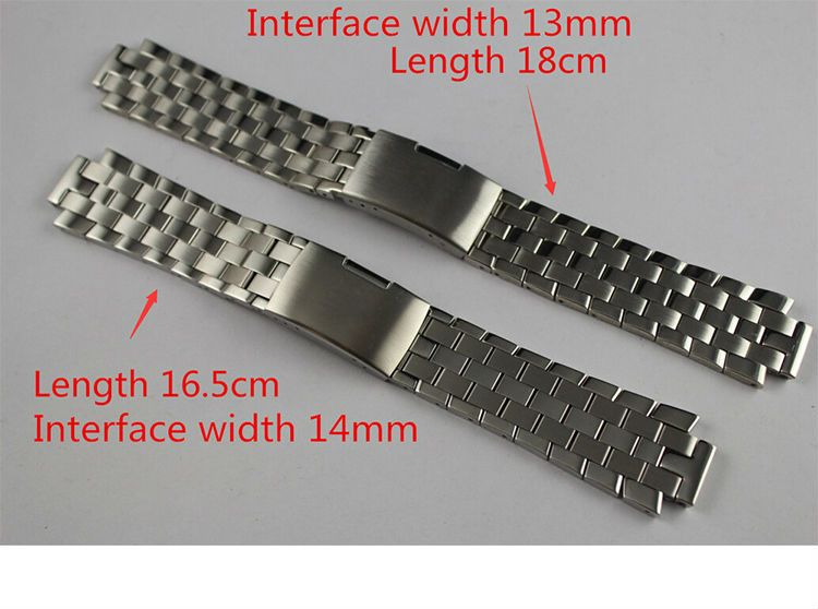 13mm L960.110 T60 14mm L975.110 New Watch Parts Male Solid Stainless steel bracelet strap Watch Bands For T60 L860/960K