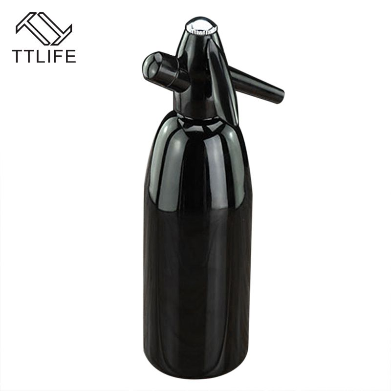 TTLIFE 2017 Hot Selling 1.0L Home Made Aluminum Soda Siphon Soda Water Machine Juice Wine Soda Drink Beverage Soda Machine