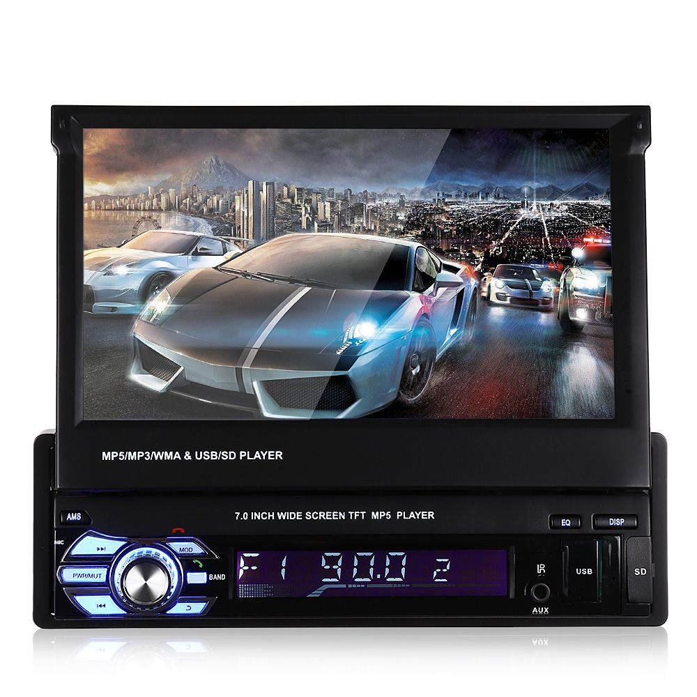 GBtiger Universal 9601 7.0 inch TFT LCD Screen MP5 Car Multimedia Player with Bluetooth FM Radio with Brake Prompt Function