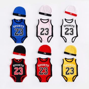 Nouveau-né Bébé Barboteuses Mignon de Basket-Ball enfants Vêtements garçons Fille Combinaisons Roupas De Bebe Infantil Bébé 23 Sport Vêtements