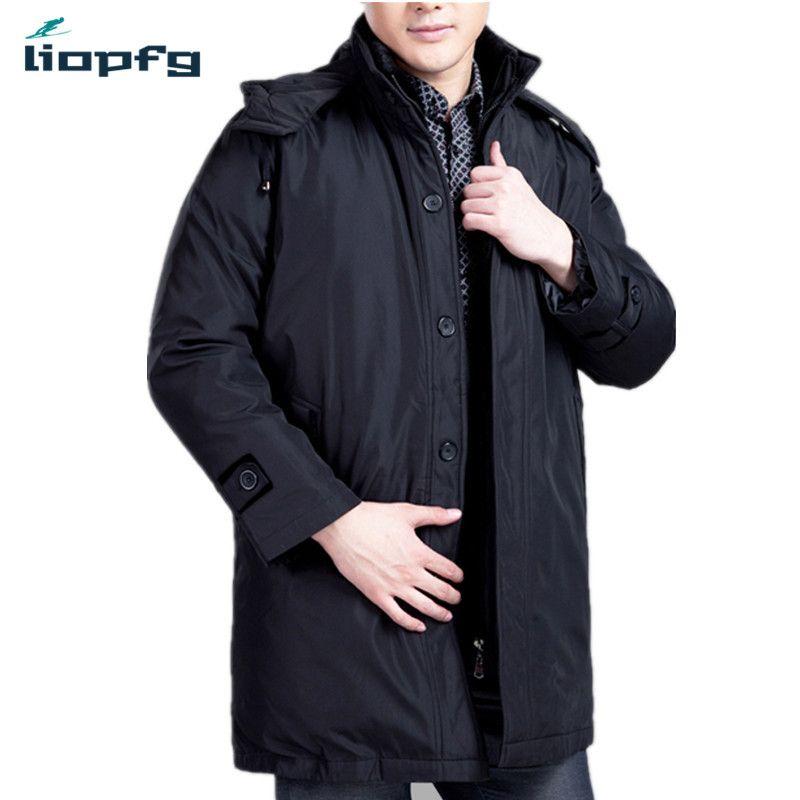 Neue Männer Winter Lange Absatz Baumwolle 2017 Mittleren Alters Marke Größe Männer Business Casual Baumwolle Verdickung Warme XL-5XL WM468