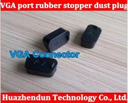 100pcs Free shipping VGA display socket Data port rubber stopper dust plug cover protective interface also have USA HDMI STOPPER