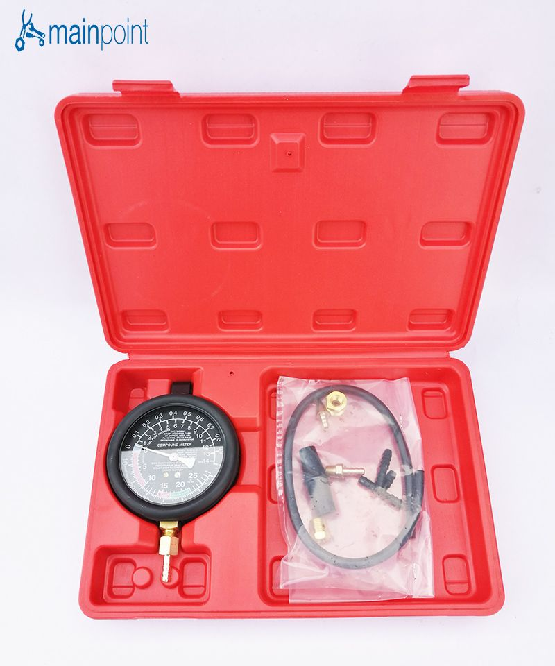 Mainpoint New Fuel Pump & Vacuum Tester Gauge Leak Carburetor Pressure Diagnostics Tool Set