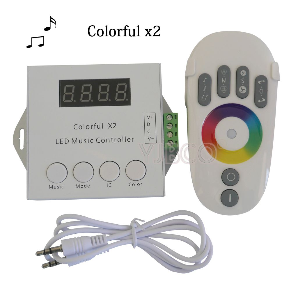 DC5-24V WS2812B WS2811 WS2813 6803 USC1903 IC Digital Addressable LED Strip Music Controller 1000 Pixels Colorful Controller